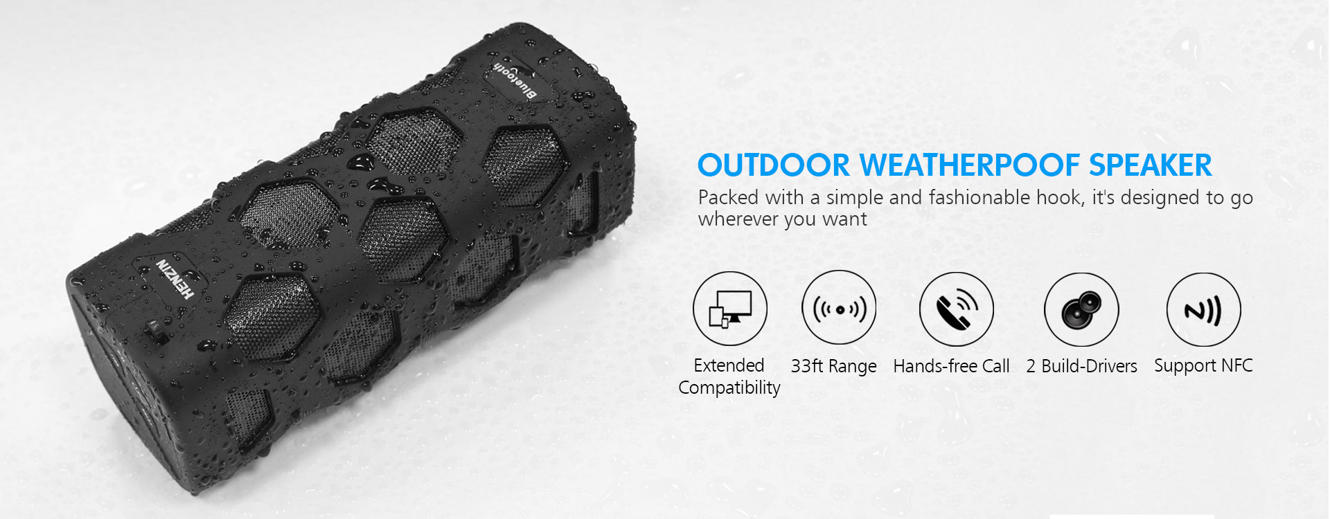 Portable Outdoors Bluetooth Speaker